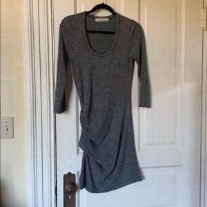 A&F grey striped bodycon sweater dress